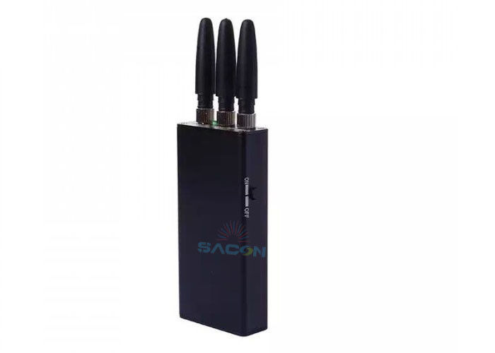 3 Antennas Pocket Cell Phone Jammer Block GSM 3G Signals With 2000mA Battery
