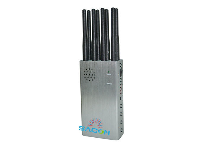 8w High Power Cell Phone GPS Jammer / Blocker 8 Bands With 30m Range
